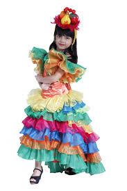 kids costume brazil spaghetti candy color kid size 8 to 10 organza costume