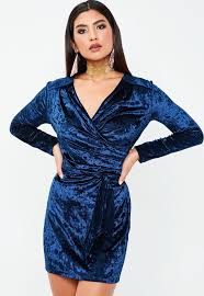 velvet dress blue velvet dress missguided