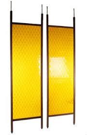 Glass Panel Room Divider Retro Single Panel Teak Tension Room Divider Let U0027s Do Retro