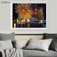 home decor sydney kiwarm new stylish sydney fireworks scenery diy 5d diamond painting