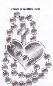 100 rosary beads with cross tattoos rosary beads tattoos