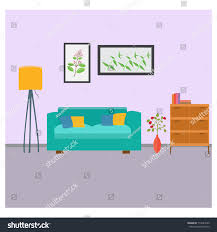 living room lounge interior design minimalist stock vector