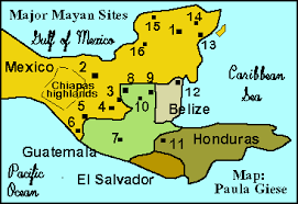mayan empire map the ancient geography