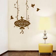 chambre la journ e bonne journée anglais lettres oiseaux decal wall sticker accueil