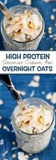 vital proteins collagen high protein coconut cream pie overnight oats eazy peazy mealz