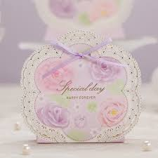 where to buy ribbon candy aliexpress buy violet laser cut wedding candy box 100pcs