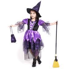 Girls Witch Halloween Costume Cheap Purple Halloween Costumes Aliexpress