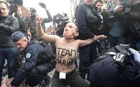 au bureau henin beaumont présidentielle des femen arrêtées à hénin beaumont avant l