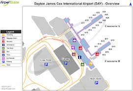 Dayton Map Dayton James M Cox Dayton International Day Airport Terminal