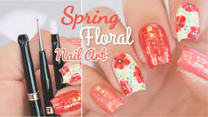 Best Nail Art Brushes Spring Floral Nail Art Using U0027mitty U0027 Nail Art Brushes Youtube