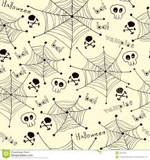halloween patern background spiders on webs pattern on white background royalty free stock