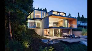 Steep Slope House Plans Russet Residence In West Vancouver British Columbia Youtube