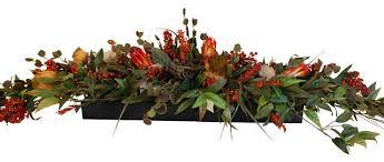 Fake Fruit Centerpieces by Long Low Floral Centerpiece Rustic Artificial Flower