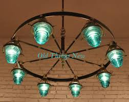 Repurposing Old Chandeliers Chandelier Made From Vintage Electric Insulators Decor
