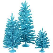 12 18 unlit artificial tree aqua blue glitter set