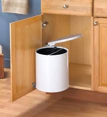 Kitchen Cabinet Trash Can Pull Out Kitchen Awesome Pull Out Built In Trash Cans Cabinet Slide Under