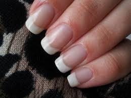 permanent french manicure on natural nails gel nails filing