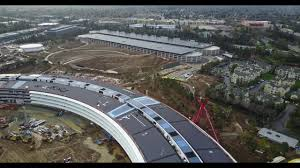 newest apple campus 2 spaceship and its neighborhood 4k no