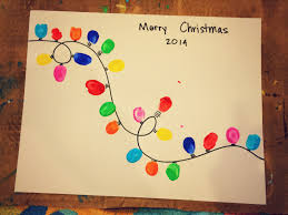 our beautifully messy house thumbprint christmas lights gifts