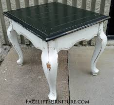 black coffee and end tables end tables painted glazed distressed facelift furniture