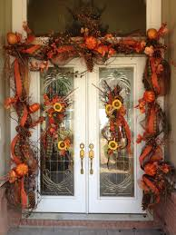 halloween autumn decorations fall doorway design by flowers u0026 home of bryant www