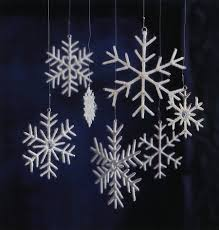 white snowflake tree ornaments set of 7 nova68
