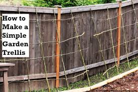 how to make a rustic pea or bean trellis out of sticks one over