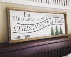 christmas tree sign christmas tree farm rustic holiday