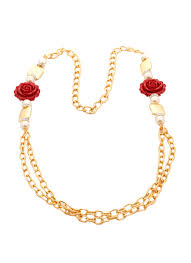 red rose necklace images Shillpa purii layered red rose necklace shop necklaces at jpg