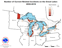 Map Of Michigan Lakes Great Lakes Swim Season Summaries