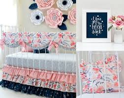 Pink Floral Crib Bedding Sweet Crib Bedding Floral Baby Bedding