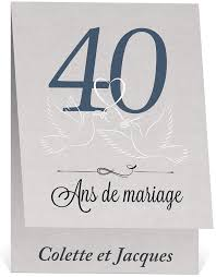 40 ans de mariage invitation anniversaire de mariage raffinée et élégante pour 40