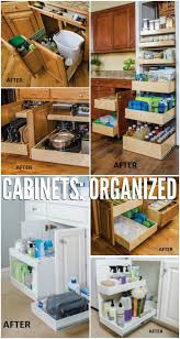 convenient and space saving cabinet organizing ideas