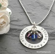 necklace with birthstones s jewelry gift sted silver necklace with name and