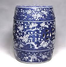 blue garden stool 18