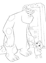 sulley boo coloring pages monster coloring pages