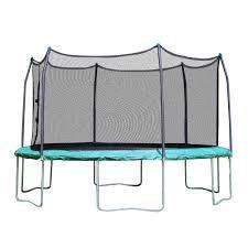 skywalker trampolines 15 u0027 round trampoline with enclosure green