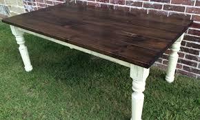 Farm House Table Turned Leg Farmhouse Table Rustic Modern Handcrafted Furniture