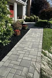 landscaping ideas with pavers easy and cheap walkway ideas for