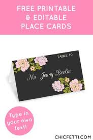 5 steps to flat place cards favor tags easy to follow