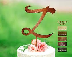 z cake toppers 6 letter a cake topper wedding cake topper letter