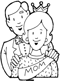 happy mothers day mom and dad coloring page printable for kids
