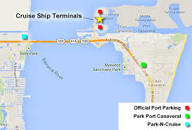 port canaveral map port canaveral cruise parking options cruzely com