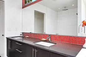 bright red glass mosaic tile cherry brio modwalls modern tile