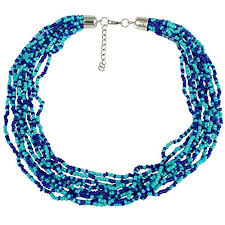 seed necklace images Multi strand royal blue seed bead necklace jewelry jpg
