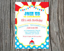 custom circus invitations carnival party invitation ideas amazing neabux com