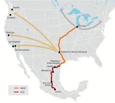 Monterrey Mexico Map by Bnsf And Kcs Join Forces To Provide New Intermodal Shipping