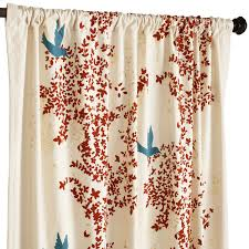 Teal Bird Curtains These Are Gorgeous And You Offset The Teal Tones Flocked Leaf