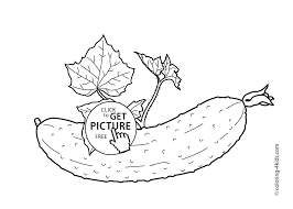 with leaves vegetables coloring pages for kids printable free