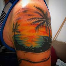 sunset tattoos designs ideas and meaning tattoos for you